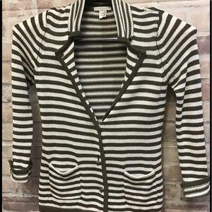 "Cotton striped ""cardi"" Summer Bliss size Medium"